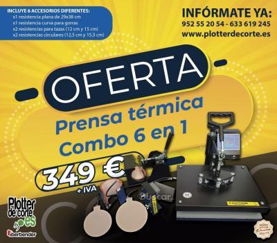 Prensa termica combo 6 en 1 con accesorios OFERTA LIMITADA