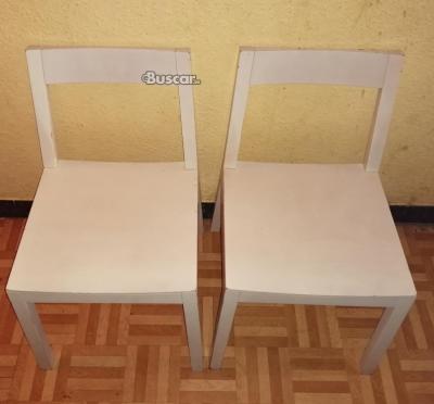 Pack de 4 sillas de madera